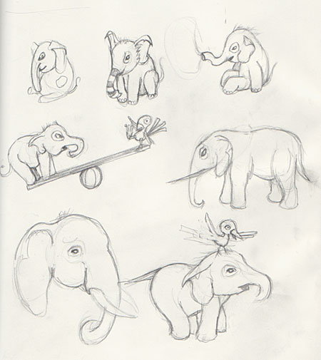 Elephants from my sketchbook.